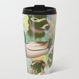 Duck, Deer & Dogs Metal Travel Mug
