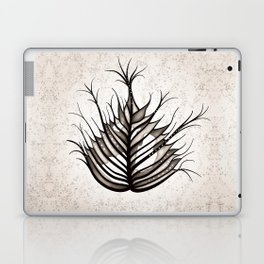 Abstract Hairy Leaf Art In Sepia Laptop & iPad Skin