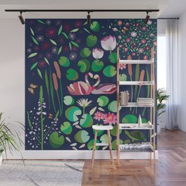 Pond Affair in color Wall Mural