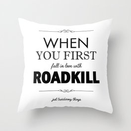 Just Taxidermy Things: Roadkill Throw Pillow