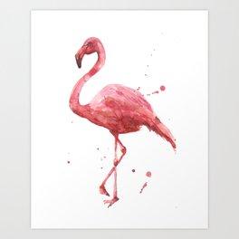 Flamingo, flamingo painting, tropical bird, pink ladies, pink flamingo Art Print