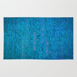 Ancient egyptian blu Rug