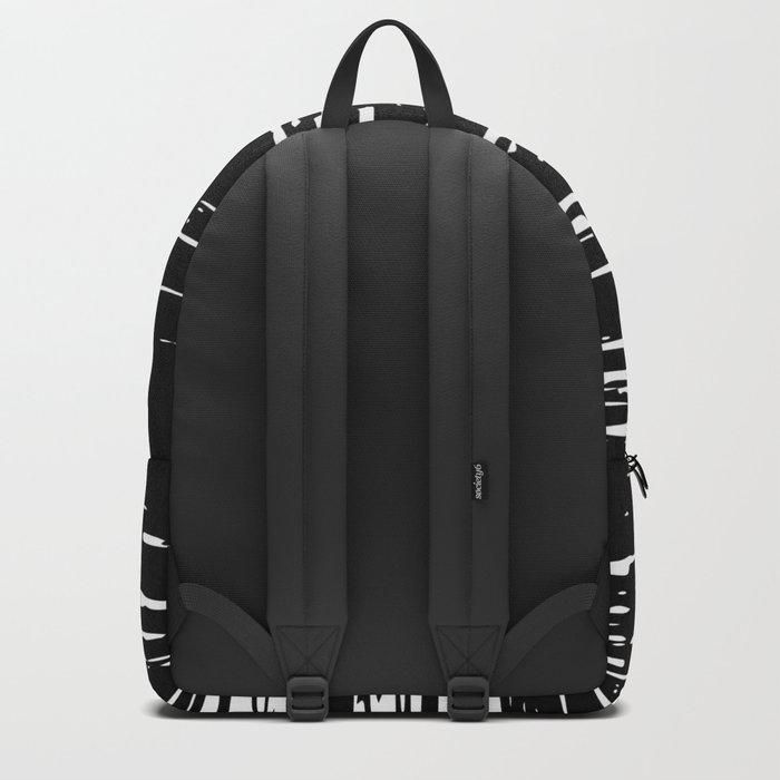 Splash White on Black Backpack