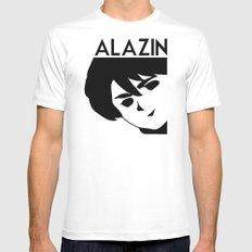 ALAZIN Mens Fitted Tee White MEDIUM