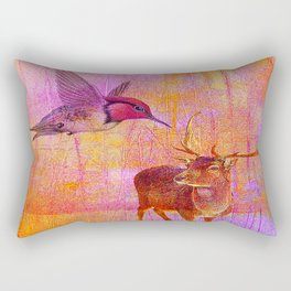 The loves platonic of the hummingbird and the deer Rectangular Pillow