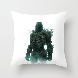 Creepy_Dude_02 Throw Pillow