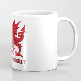 Thou Art Mighty Red Dragon Welsh Rugby Coffee Mug