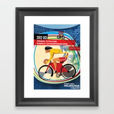 UCI Melbourne World Cycling Championships Poster with Text Framed Art Print