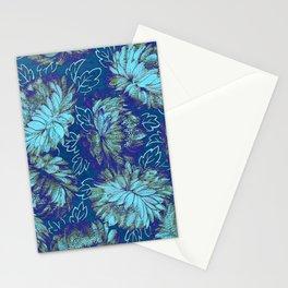 nite peonies Stationery Cards