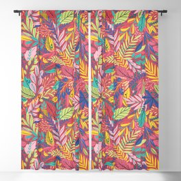 Fruit Tea Florals - Cranberry Blackout Curtain