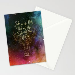 She was the heir of ash and fire and she would bow to no one. Aelin Stationery Cards