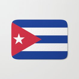 National flag of Cuba - Authentic HQ version Bath Mat