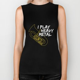 I Play Heavy Metal Tuba TShirt - Band Tuba Player Shirt Biker Tank