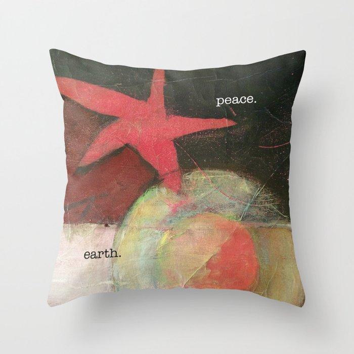 peace. earth. peace on earth. Throw Pillow
