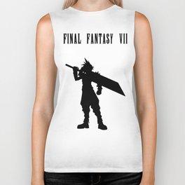 Cloud Strife Silhouette Minimal (Black) - Final Fantasy VII Biker Tank
