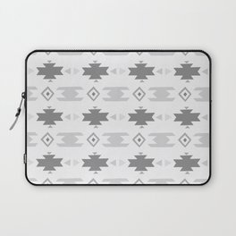 Southwestern Pattern Gray Cream Laptop Sleeve