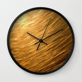Sunset on River Swell, Abstract ICM - The Shape of Water Wall Clock