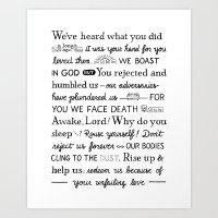 Psalm 44 Art Print