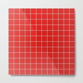 Cherry Grid Metal Print