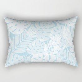 Tropical Shadows - Light Blue / White Rectangular Pillow