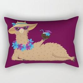 Bahama Llama Rectangular Pillow