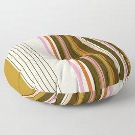 Robbie: Vintage Inspired Stripes  Floor Pillow