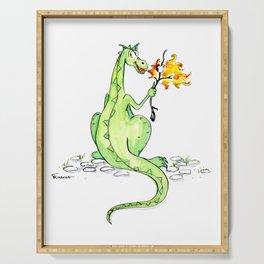 Dinosaur S'Mores Children's Art Serving Tray