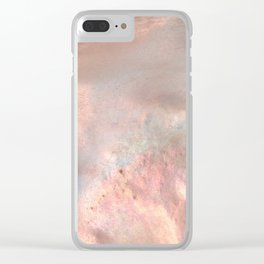 Coral Holographic Clear iPhone Case