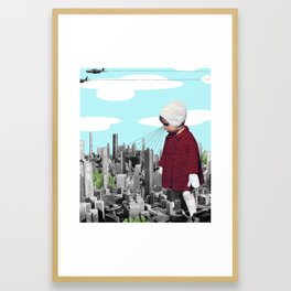 child, seeking something  Framed Art Print