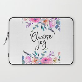 Choose Joy, Nursery Wall Art, Inspirational Quotes, Typography Print, Typography Wall Art Laptop Sleeve