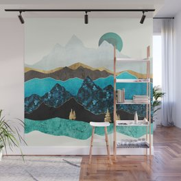Teal Afternoon Wall Mural