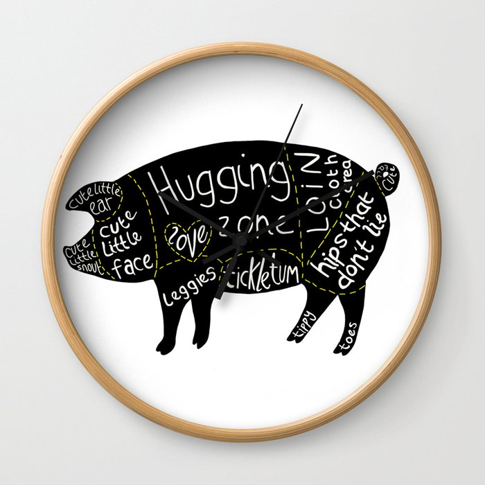 Cuts of Pig Wall Clock