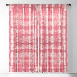 Shibori Itajime Reds Sheer Curtain