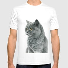 The Chartreux portrait G112 Mens Fitted Tee White MEDIUM