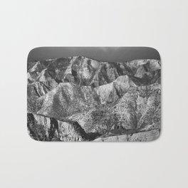 Misty mountains at sunrise. Bad lands. Sierra Nevada Bath Mat