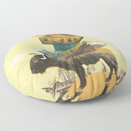 BUFFALO TRAVELS Floor Pillow