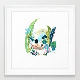 Jungle Hammock Pals Framed Art Print