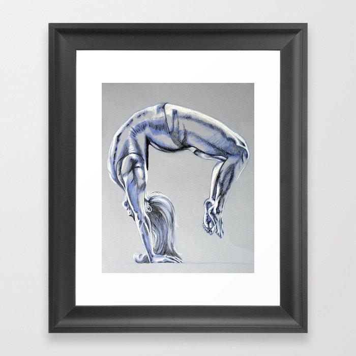 Bend Over Backwards Framed Art Print