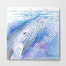 Blue Whale Metal Print