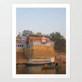 The Sacred Ganges River in India (2004b) Art Print