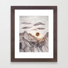 Lines in the mountains Framed Art Print