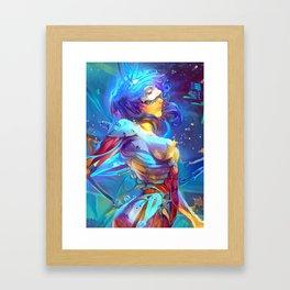 Neon Cyborg Framed Art Print
