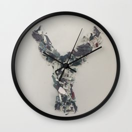 Letter Y in paint Wall Clock
