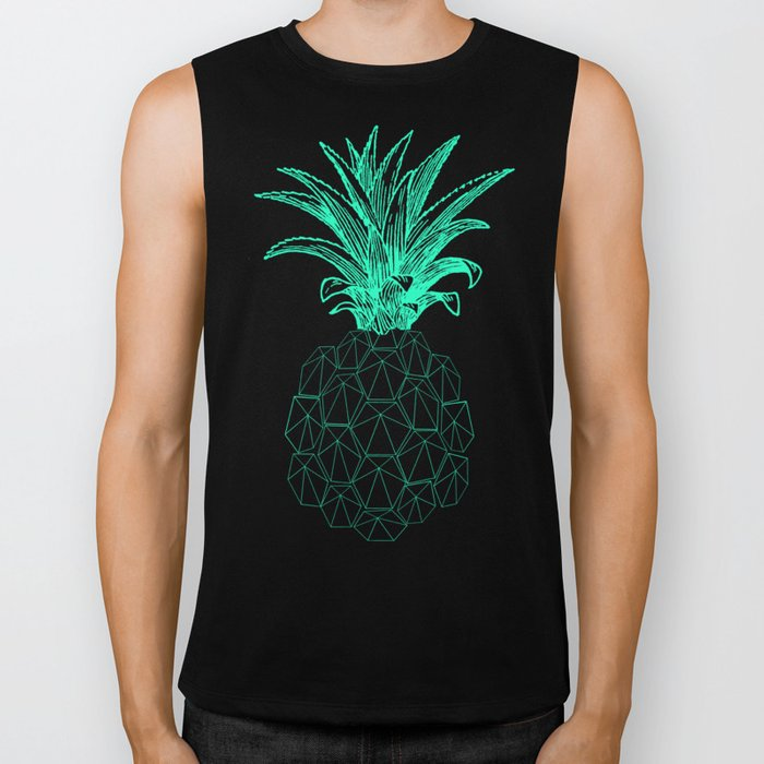 pineapple got the blues Biker Tank