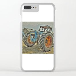 Porth Meudwy Tractor Clear iPhone Case