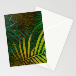 TROPICAL GREENERY LEAVES no6 Stationery Cards