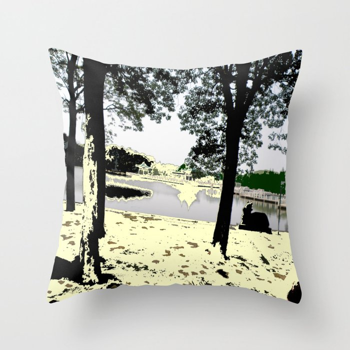A Pleasant Day Throw Pillow