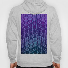 Seigaiha Synthwave Colors Hoody