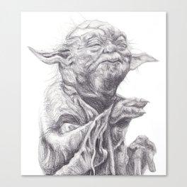 Yoda sketch Canvas Print