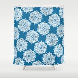 Gorgeous Lace Snow Pattern Shower Curtain